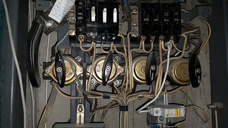 Услуги устранение неисправности проводки установка диммера