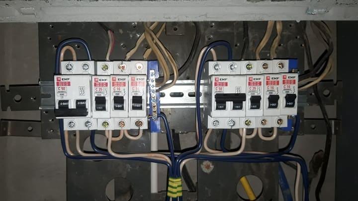 Переборка электрического щита с заменой автоматов